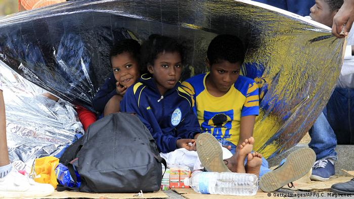 Child migrants in Ventimiglia, Italy (Getty Images/AFP/J.C. Magnenet)