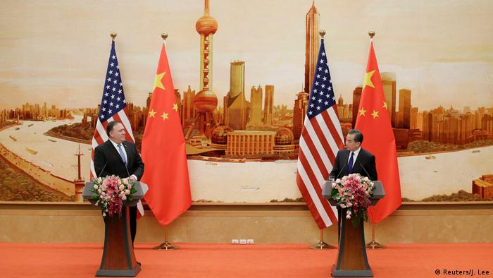China Mike Pompeo und Wang Yi (Reuters/J. Lee)