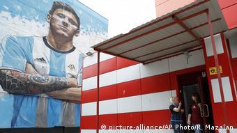 Messi'nin duvar resmini 29 yaşındaki sokak sanatçısı Sergey Erofeev yaptı.