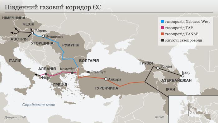 Infografik Pipeline TAP Nabucco UKR