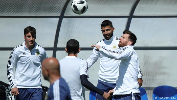Fussball WM Russland - Messi beim Training