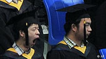 Graduates of the Huazhong University of Science and Technology attend the bachelor's degree ceremony in Wuhan