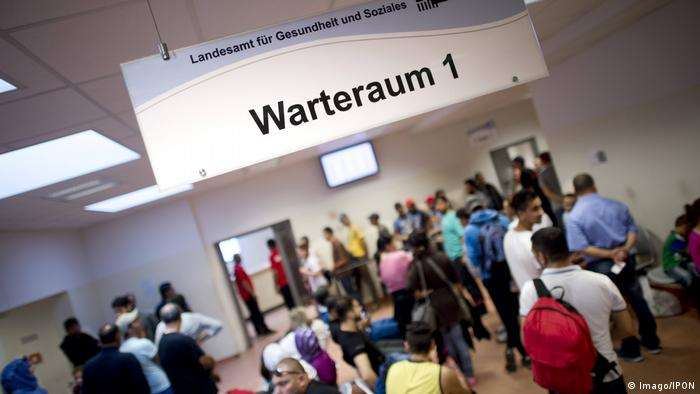 Refugee registration in Berlin