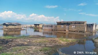 Área inundada no Burundi
