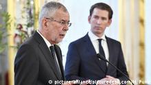 Österreich Affäre Bundesnachrichtendienst | Bundespräsident van der Bellen & Bundeskanzler Kurz