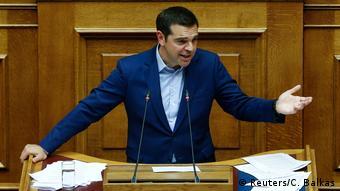 Griechenland Debatte über Namenstreit mit Mazedonien im Parlament in Athen (Reuters/C. Balkas)