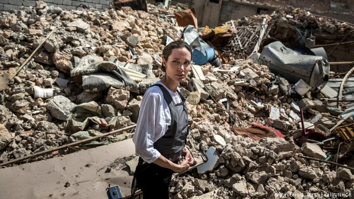 UNHCR Special Envoy Angelina Jolie during her visit to the Old City in West Mosul
