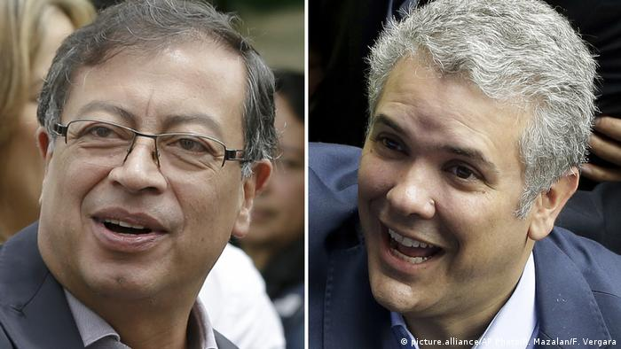 Kombobild - Gustavo Petro, Ivan Duque (picture.alliance/AP Photo/R. Mazalan/F. Vergara)