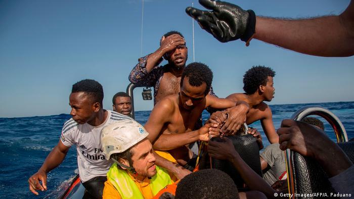 Italien Symbolbild Rettung von Flüchtlinge
