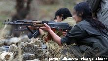 ARCHIV 2009 *** FILE - in this Friday, Dec. 18, 2009 file photo, a member of the Kurdistan Workers' Party, or PKK, trains on a weapon at their camp in the Qandil mountains near the Turkish border with northern Iraq. A Kurdish rebel group says they are withdrawing from Iraq's Sinjar following threats of attack from Turkey. The Kurdistan Workers Party, or PKK, says in a statement Friday, March 23, 2018 the Iraqi government's position and the fact that the Kurdish community had managed to organize itself have removed security fears in the area. (AP Photo/Yahya Ahmed, File) |