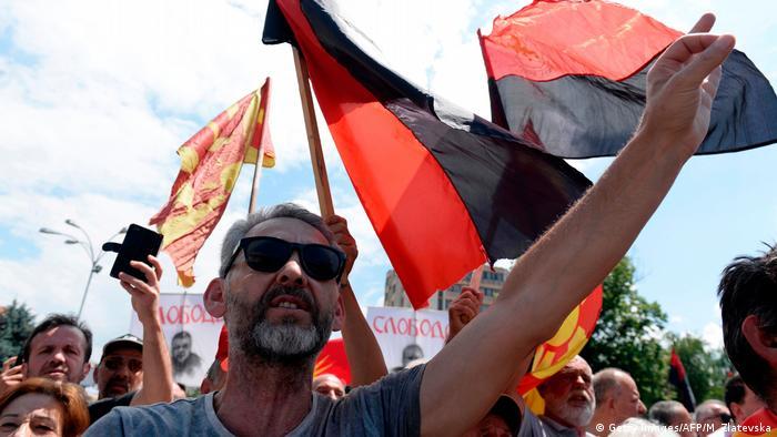 Mazedonien Protesten in Bitola