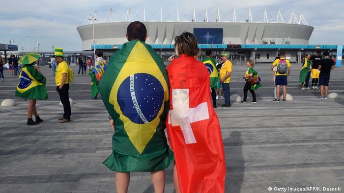 Fußball WM 2018 Gruppe E Brasilien - Schweiz Fans