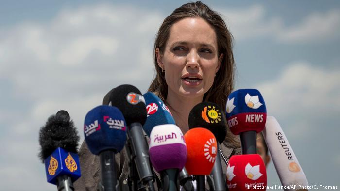 Irak Schauspielerin Angelina Jolie in Dohuk