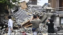 18.06.2018 Myotokuji temple is destroyed by an earthquake registering a weak 6 on the Japanese seismic scale in Ibaraki City, the north side of Osaka Prefecture on June 18, 2018. According to the Meteorological Agency, the depth of the epicenter is estimated to be about 13 kilometers, and the indicative magnitude is estimated to be 6.1. Some aftershocks occurred one after another in the afflicted areas. ( The Yomiuri Shimbun via AP Images ) |