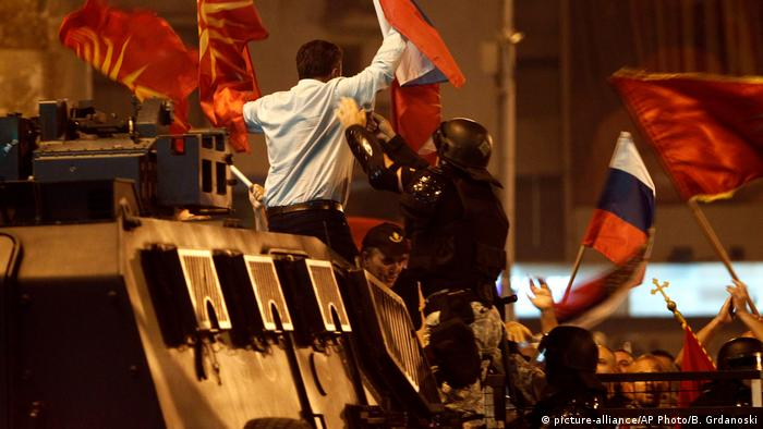 Mazedonien Proteste in Skopje (picture-alliance/AP Photo/B. Grdanoski)
