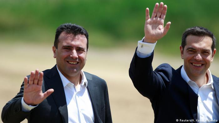 Mazedonien Griechenland Namensstreit beigelegt Zaev und Tsipras