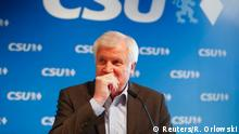 18.06.2018 +++ German Interior Minister Horst Seehofer attends a press conference after the Christian Social Union (CSU) board meeting in Munich, Germany, June 18, 2018. REUTERS/Ralph Orlowski
