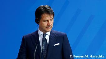 Джузеппе Конте на пресс-конференции в Берлине 18 июня