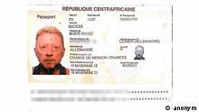 Zentralafrikanische Republik | mutmaßlicher Diplomatenpass Boris Becker