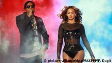Frankreich Jay Z und Beyoncé bei einem Konzert im Stade De France in Paris