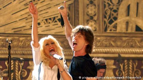 Christina Aguilera and Mick Jagger in Shine a Light (picture-alliance/dpa/Kinowelt Filmverleih)