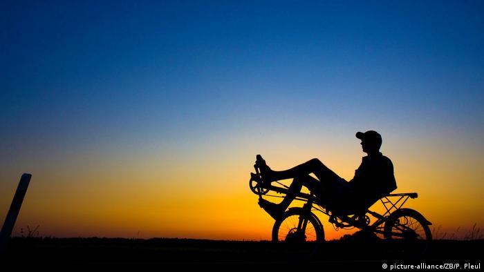 Recumbent bike rider