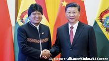 China Xi Jinping recibe a Evo Morales