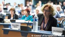 Vesna Crnić-Grotić aus Kroatien, Vorsitzende des Komitees der Europäischen Charta der Regional- oder Minderheitensprachen.