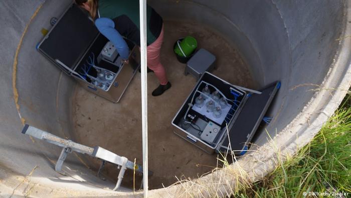 Messstation zur Entnahme von Bodensickerwasser (DW/Kathy Ziegler)