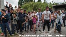 Italien Matteo Salvini und Giorgia Meloni besuchen Lager der Roma