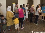 В центре приема беженцев в Берлине (фото из архива)