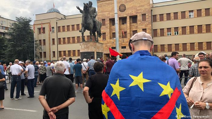 Mazedonien Skopje Proteste (DW/Boris Georgievski )