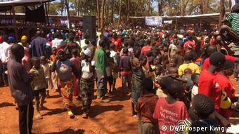 Hundreds of refugees gathered at the camp to celebrate World Refugee Day