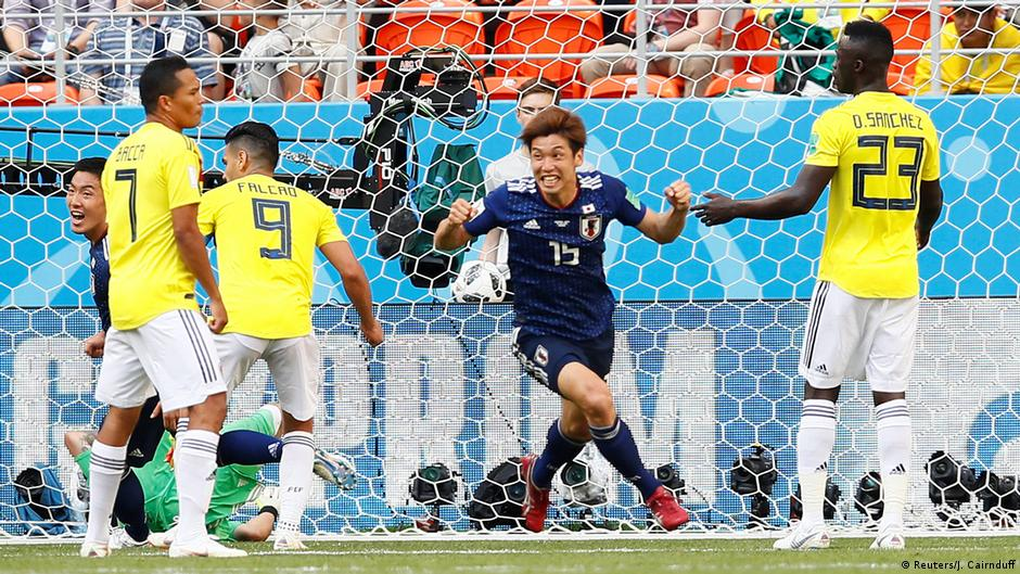 e2817e5ec Japan topple 10-man Colombia in Group H upset