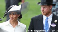 Royal Ascot Pferderennbahn - Meghan Markle und Prinz Harry (Getty Images/AFP/D. Keal-Olivas)