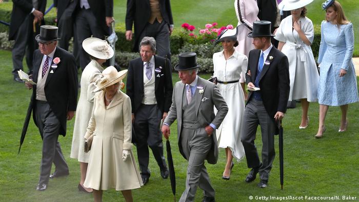 Royal Ascot Pferderennbahn - Meghan Markle und Prinz Harry