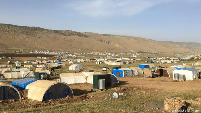Yazidi refugee camp on the plateau of Mount Sinjar