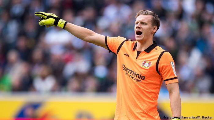 Allenamento calcio Bayer 04 Leverkusen portiere