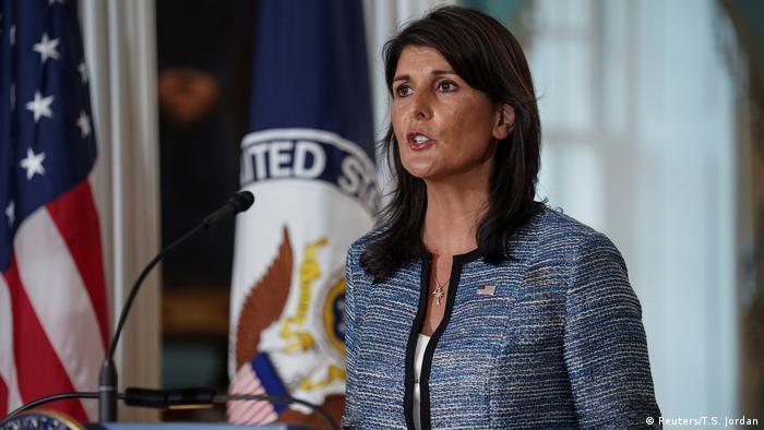 USA Washington Ankündigung Austritt aus UN-Menschenrechtsrat | Nikki Haley (Reuters/T.S. Jordan)