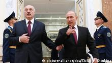 Belarus President Lukaschenko and his Russian counterpart Vladimir Putin (picture-alliance/dpa/TASS/ Y. Shtukina)