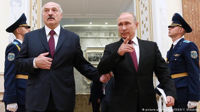 Die Präsidenten von Russland und Belarus, Wladimir Putin und Alexander Lukaschenko (Foto: picture-alliance/dpa/TASS/ Y. Shtukina)