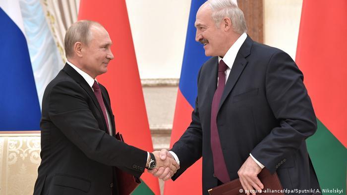 Путин и Лукашенко в Минск (2018)
