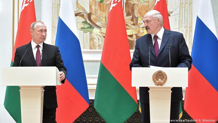 Russland Belarus Treffen von Lukaschenko und Putin in Minsk