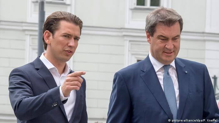 Kurz and Söder (picture-alliance/dpa/P. Kneffel)