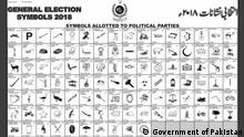 Screenshot Pakistan General Election Symbols 2018