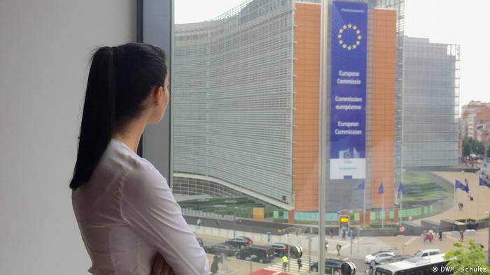 Turkish opposition member Kader Sevinc in Brussels