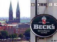 2001年8月,比利时英特布鲁集团收购了德国最大啤酒公司贝克
