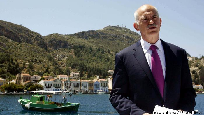 Griechenland George Papandreou (picture-alliance/AP Photo/T. Bolari)