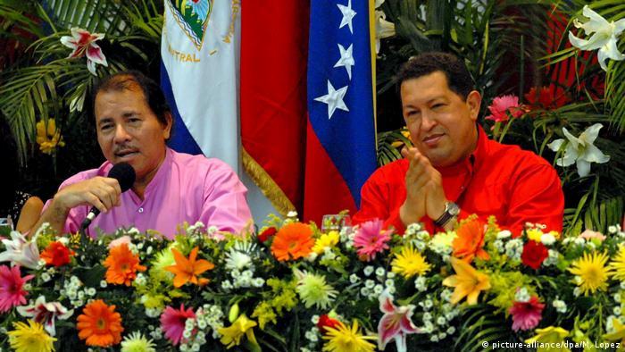 Daniel Ortega and Hugo Chavez