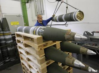 Decomissioning a cluster bomb at the Spreewerke Lübben plant in Eastern Germany